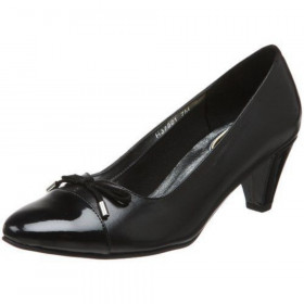 Ros Hommerson Women's Floria Black Leather Pump