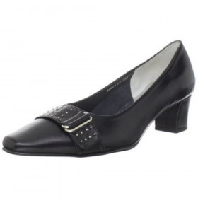 Ros Hommerson Women's Berry Black Leather Pump