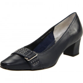 Ros Hommerson Women's Berry Navy Leather Pump
