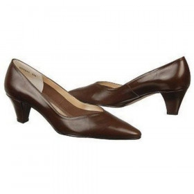 Ros Hommerson Women's Alabama Brown Leather Pump