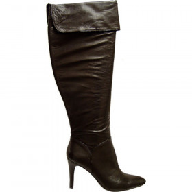 Enzo Angiolini Womens Irina Brown Leather Knee High Boot