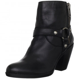 Bandolino Women's Julym Black Leather Ankle Boot