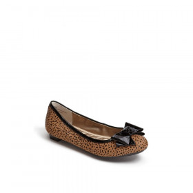 Me Too Women's Kaci Brown/Black Leopard Calf Hair Flat