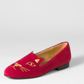 G Cat Scarlet Jon Josef Smoking Suede Loafer Flat