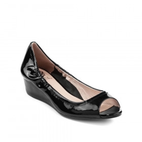 Vince Camuto Women's Ryssa Black Patent Leather Wedge Pump