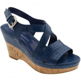 Franco Sarto Women's Grace Cobalt Blue Leather Sandal