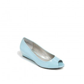 Yasmeen Blue Patent Me Too Wedge Pumps