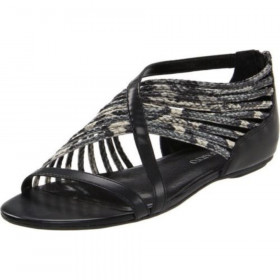 Franco Sarto Women's Paddy Sandal Black Leather