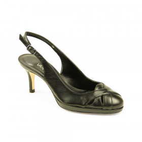 VANELi Women's Fanita Black Leather Slingback