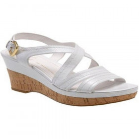 Franco Sarto Women's Grace White Leather Sandal