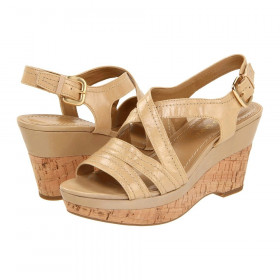 Franco Sarto Women's Grace Torrone Beige Leather Sandal