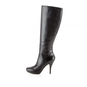 Via Spiga Storm Black Leather Boot