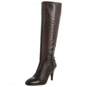 """Nine West Women's """"Bestdressn"""" Black/Brown Leather Boot"""