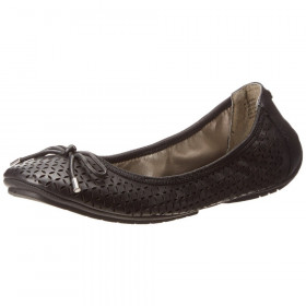 Me Too Women's Lindsey Black Leather Flat