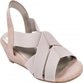 Me Too Women's Savana Taupe Wedge Sandal