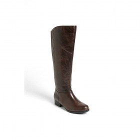 Me Too Women's Astor Dark Brown Leather Flat Riding Boot