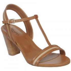 Mariana by Golc Women's Caline Cognac Leather Sandal