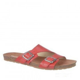 Franco Sarto Women's Peony Paprika Red Leather Sandal