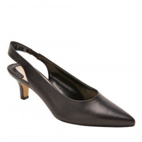 Ros Hommerson Women's Kaitlin Black Leather Slingback Pump