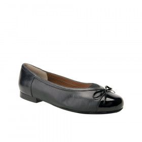 Ros Hommerson Women's Oriel Black Leather Ballerina Flat