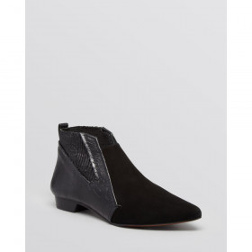 Derek Lam Womens Alegra Black Croco Ankle Leather Boot