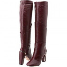 Diane Von Furstenberg Women's Grace Cherry Leather Boots DVF