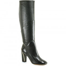 Diane Von Furstenberg Women's Grace Black Leather Boots DVF