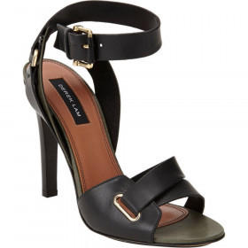 Derek Lam Women's Flynn Black Leather Ankle-Strap Sandals