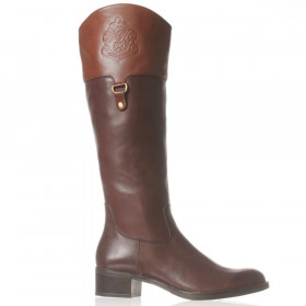 Franco Sarto Women's Clarity Brown Acorn Leather Boots