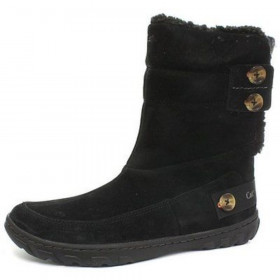 Shayna Black Suede Caterpillar