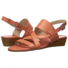 Franco Sarto Women's Caliari Coral Leather Wedge Sandal