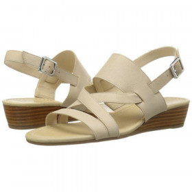Franco Sarto Women's Caliari Beige Leather Wedge Sandal