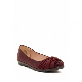 Easy Spirit Katerina Dark Red Fabric Ballerina Flat
