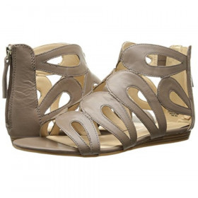 Nine West Womens Turntable Taupe Leather Sandal