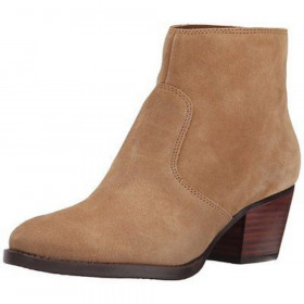 Nine West Women's Bolt Natural Suede Ankle Boot
