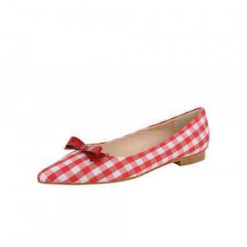 Monaco Red White Jon Josef Fabric Flat