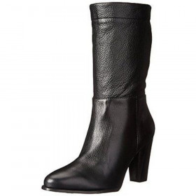 Vince Camuto Signature Womens Orton Black Leather Ankle Boot