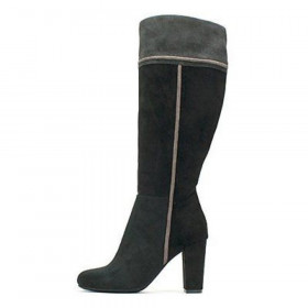 Cordelia Black Multi Suedette Rialto Knee High Boot