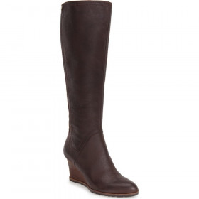 Franco Sarto Women's Diodati Espresso Leather Boots