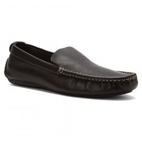 Parker Black Leather Vionic Loafer Mens