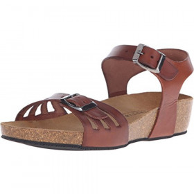 Tampa Brown Eric Michael Wedge Sandal