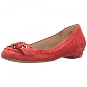 Mady Orange Reptile Anne Klein flat