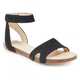 Newport Black Adam Tucker Leather Flat Sandal
