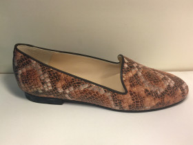 Gatsby Pierre Snake Brown Jon Josef Loafer Flat