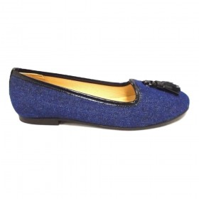 Monelle Denim Jon Josef Loafer Flat