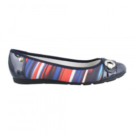 Azi Blue Orange Fabric Multi Anne Klein Flat