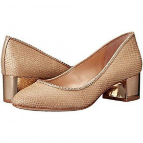 Hetty Gold Vince Camuto Fabric Pump