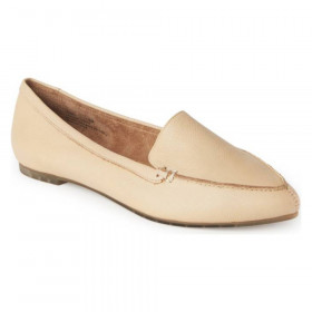Audra Rice Yellow Me Too Leather Loafer Flats