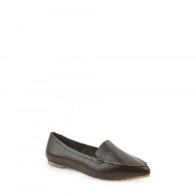 Audra Olive Me Too Leather Loafer Flats