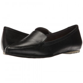Audra Black Me Too Leather Loafer Flats